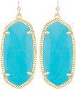Image of Kendra Scott Elle Gold Earrings in Turqouise Magnesite View 1