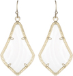 Alex Gold Earrings in White Mother of Pearl