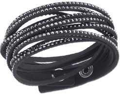 Image of Swarovski Slake Black Bracelet View 1