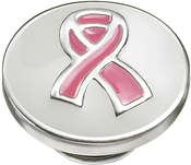 Image of Kameleon Pink Ribbon White Enamel JewelPop View 1