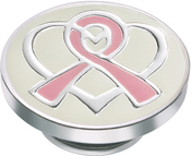 Image of Kameleon Pink Ribbon & Silver Heart JewelPop View 1