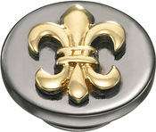 Image of Kameleon Gold Fleur de Lis & Black Rhodium JewelPop View 1