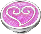 Image of Kameleon Scrolled Heart with Pink Enamel JewelPop View 1