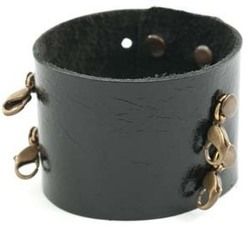 Image of Lenny and Eva Wide Cuff- Black View 2