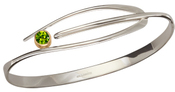 Image of Ed Levin Silver And 14k Gold Wink Bracelet With Peridot View 2