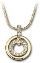 Image of Swarovski Circle Pendant, gold-plated View 1