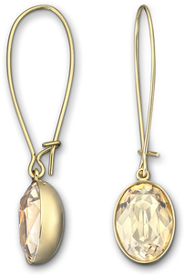 Image of Swarovski Puzzle Golden Shadow Pierced Earrings View 1