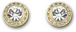 Image of Swarovski Angelic Pierced Earrings, gold-plated View 1