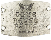 Image of Lenny and Eva Love Never Fails- Large Sentiment Silver View 1