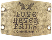 Image of Lenny and Eva Love Never Fails- Large Sentiment Brass View 1