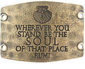 Image of Lenny and Eva Wherever You Stand- Large Brass Sentiment View 1