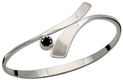 Image of Ed Levin Silver Allemande Bracelet With Faceted Black Onyx View 2
