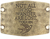 Image of Lenny and Eva Not All Who Wander Are Lost- Large Sentiment Brass View 2