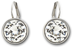 Image of Swarovski Bella Clear Crystal Pierced Earrings View 1