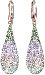 Image of Swarovski Abstract Nude Pierced Earrings View 1