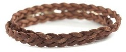 Image of Lenny and Eva Coffee Bean Braided Wrap View 1
