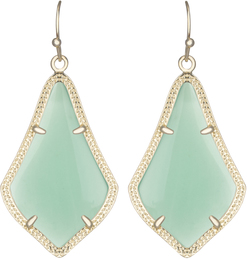 Image of Kendra Scott Alex Gold Earrings in Chalcedony View 1