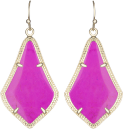 Image of Kendra Scott Alex Gold Earrings in Magenta Magnesite View 1