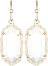 Image of Kendra Scott Dani Gold Earrings in White Mother of Pearl View 1