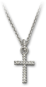 Image of Swarovski Cross Mini Pendant View 1