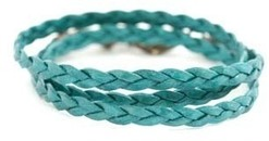 Image of Lenny and Eva Seafoam Braided Wrap View 1