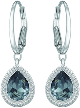 Image of Swarovski Aneesa Silver Night Pierced Earrings View 1