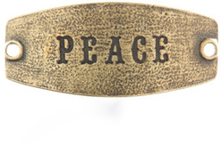 Image of Lenny and Eva Peace- Small Sentiment Brass View 1