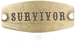 Image of Lenny and Eva Survivor- Small Sentiment Brass View 1