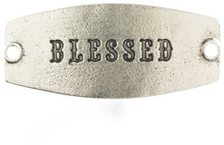 Image of Lenny and Eva Blessed- Small Sentiment Silver View 1