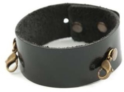 Image of Lenny and Eva Thin Cuff- Black View 1