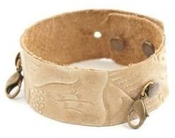 Image of Lenny and Eva Thin Cuff- Embossed Natural View 1