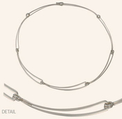 "Image of Ed Levin Silver Open Link Necklace -16"" View 1"