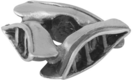 Image of A Silver Breeze Canoe Bead View 2