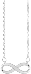 Image of A Silver Breeze Sterling Silver Infinity Necklace View 1