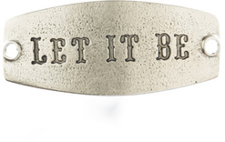Image of Lenny and Eva Let It Be- Small Sentiment Silver View 1