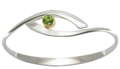 Image of Ed Levin Silver And 14k Gold Sensational Swing Bracelet With Peridot View 2