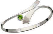 Image of Ed Levin Silver Allemande Bracelet With Peridot View 2