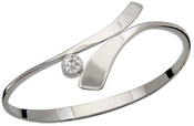 Image of Ed Levin Silver Allemande Bracelet With Moissanite View 2
