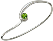 Image of Ed Levin Silver Gem Elegance Bracelet With Peridot View 1