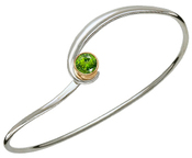 Image of Ed Levin Silver And 14k Gold Gem Elegance Bracelet With Peridot View 1
