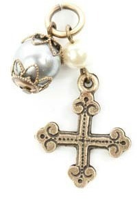 Image of Lenny and Eva Cross Charm View 1