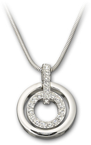 Image of Swarovski Circle Pendant View 1