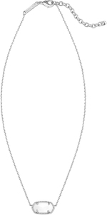 Elisa necklace rhodium whitemop