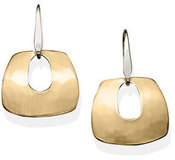 Image of Ed Levin Gold Over Morocco Earrings With Silver Earwire View 1