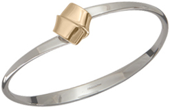 Image of Ed Levin Silver And 14k Gold Love Knot Bracelet View 1