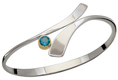Image of Ed Levin Silver And 14k Gold Allemande Bracelet With Blue Topaz View 2