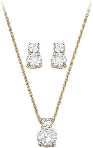 Image of Swarovski Brilliance Set, gold-plated View 1