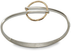 Silver and 14k gold horizon flip bracelet