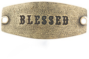 Image of Lenny and Eva Blessed- Small Sentiment Brass View 1
