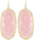 Image of Kendra Scott Elle Gold Earrings in Rose Quartz View 1